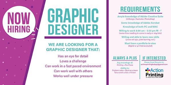 Now Hiring – Graphic Designer